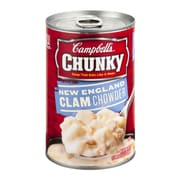 Campbells Chunky New England Clam Chowder, 19 oz. Can, 8/Pack