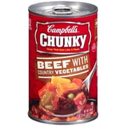 Campbells Chunky Beef with Country Vegetables, 18.8 oz. Can, 8/Pack