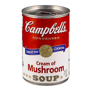Campbells Condensed Cream of Mushroom Soup, 10 oz., 16/Pack