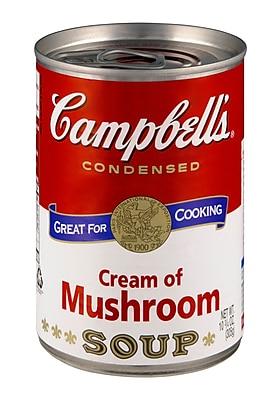 Campbells Condensed Cream of Mushroom Soup, 10 oz., 16/Pack