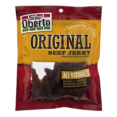 Oberto All Natural Original Beef Jerky, 3.25 oz. 4/Pack