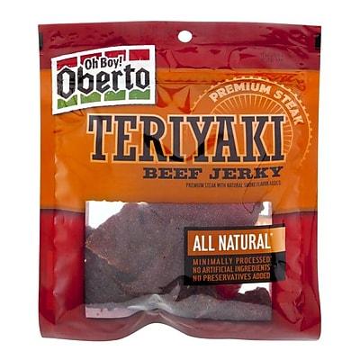 Oberto All Natural Teriyaki Beef Jerky, 3.25 oz. 4/Pack