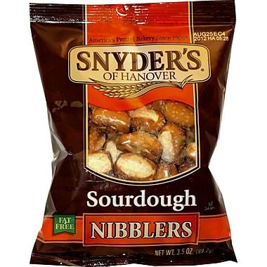 Snyder s of Hanover Seasoned Sourdough Nibbler Pretzels, 3.5 oz., 32/Pack