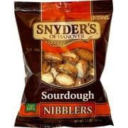 Snyder s of Hanover Seasoned Sourdough Nibbler Pretzels, 3.5 oz., 32/Pack