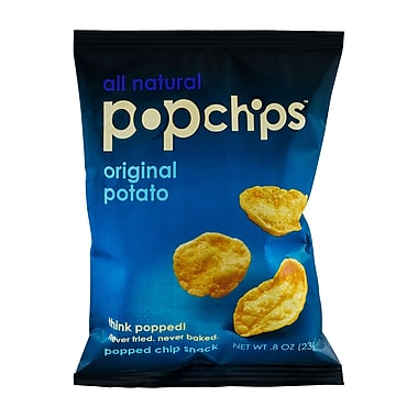 popchips Potato Chips, Original, 0.8 oz., 32/Pack