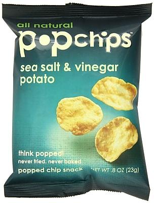 popchips Potato Chips, Sea Salt & Vinegar, 0.8 oz., 32/Pack