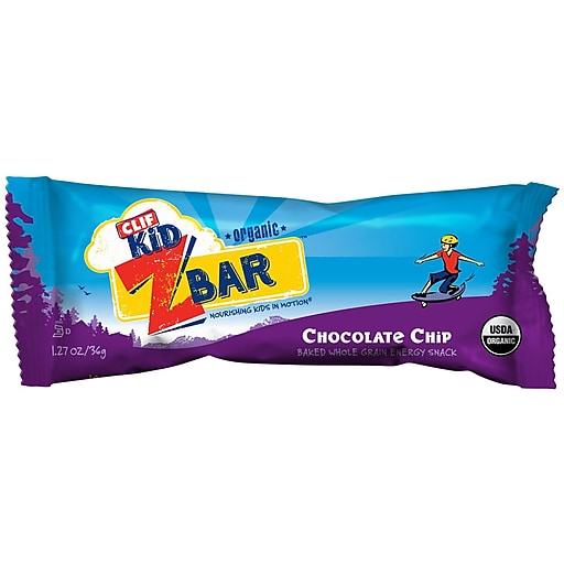 Clif Kid® Organic Chocolate Chip, 1.27 oz. Bars, 36/Pack