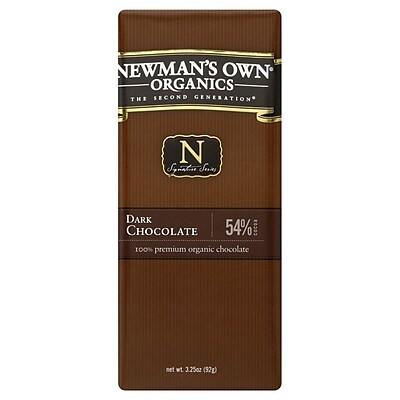 Newmans Own Organic Dark Chocolate Bars, 3.25 oz. Bars, 12/Pack 306868