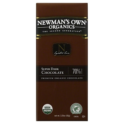 Newmans Own Organic Super Dark Chocolate Bars, 3.25 oz. Bars, 12/Pack 306867