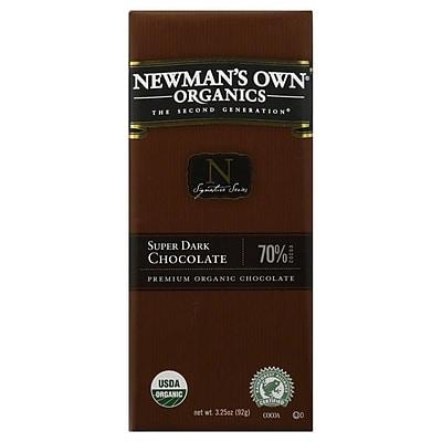 Newmans Own Organic Super Dark Chocolate Bars, 3.25 oz. Bars, 12/Pack