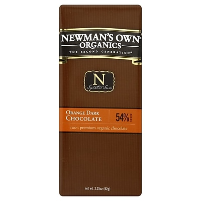 Newmans Own Orange Dark Chocolate Bars, 3.25 oz. Bars, 12/Pack