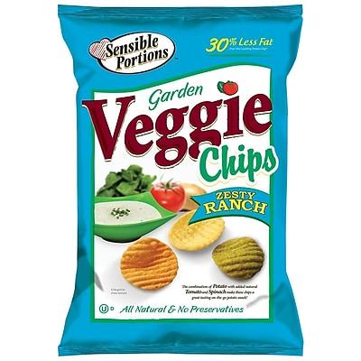 Sensible Portions All Natural Zesty Ranch Garden Veggie Chips, 1 oz., 30/Pack