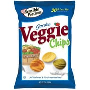 Sensible Portions Garden Veggie Chips With Sea Salt, All Natural, 1 oz., 30/Pack