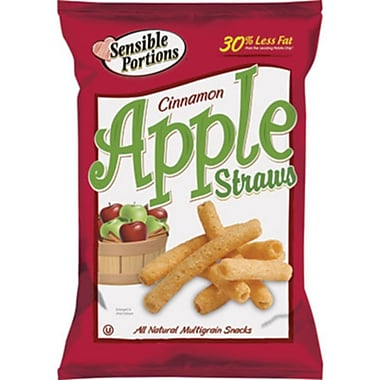 Sensible Portions All Natural Cinnamon Garden Apple Straws, 1 oz., 30/Pack