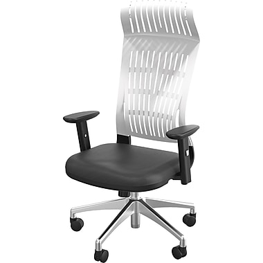 Balt Fly High-Back Padded Office Chair, Adjustable Arms, White