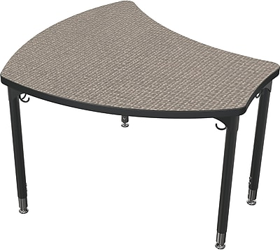 Balt Large Shapes 36'' Student Desk , Pewter Mesh (111351-4878)