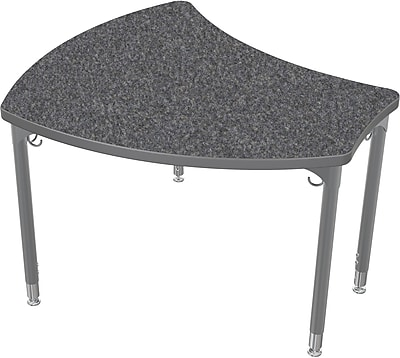 Balt Large Shapes 36'' Student Desk , Graphite Nebula (112352-4623)