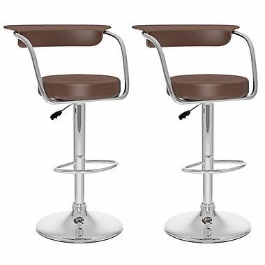 Sonax™ CorLiving™ Leatherette Open Back Adjustable Barstools