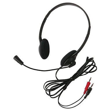Ergoguys Califone® 3065Av Lightweight Over-the-Head Headset, Black