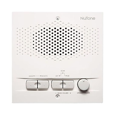 NuTone® NRS103 Indoor Remote Station For 3-Wire Intercom Systems, White