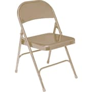 NPS® 50 Series All-Steel Armless Standard Folding Chair, Beige