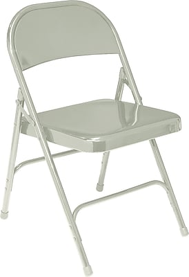National Public Seating 50 Series All Steel Folding Chair, Grey 100/Pack (52/100)