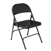 National Public Seating 510 Steel Folding Chair, Black (5104)
