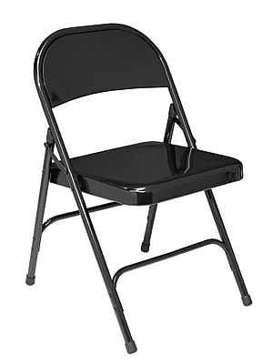 National Public Seating 50 Series All Steel Folding Chair, Black 52/Pack (510/52)