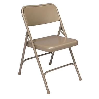NPS® 200 Series All-Steel Armless Premium Folding Chair, Beige