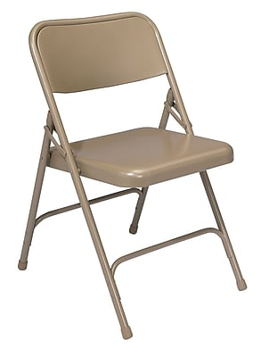 National Public Seating 200 Series All Steel Premium Folding Chair, Beige 52/Pack (201/52)