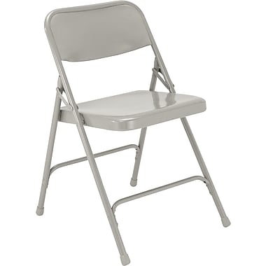 NPS® 200 Series All-Steel Armless Premium Folding Chair, Gray