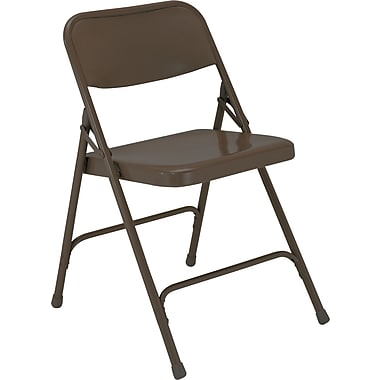 NPS® 200 Series All-Steel Armless Premium Folding Chair, Brown