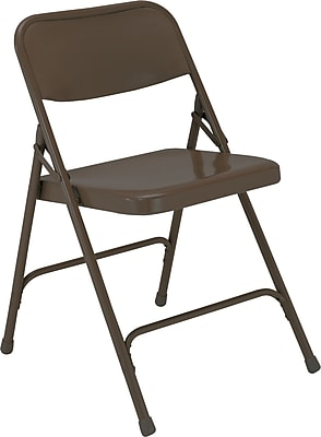 National Public Seating 200 Series All Steel Premium Folding Chair, Brown 52/Pack (203/52)