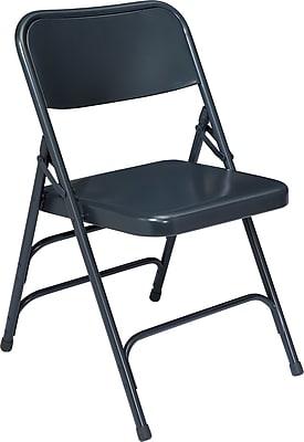 National Public Seating 300 Series All Steel Triple Brace Folding Chair, Blue 52/Pack (304/52)