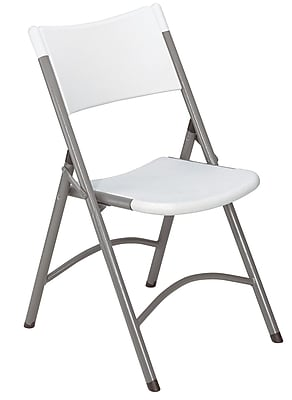 NPS #602 Blow Molded Folding Chairs, Speckled Grey/Textured Grey - 4 Pack