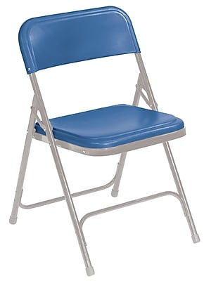 National Public Seating 800 Series Steel Frame Plastic Folding Chair, Blue 100/Pack (805/100)