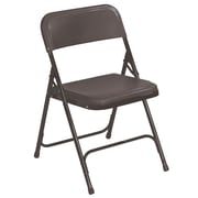 NPS® 800 Series Lightweight Plastic Armless Premium Folding Chair, Black
