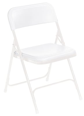 National Public Seating 800 Series Steel Frame Plastic Folding Chair, White 52/Pack (821/52) 2191941