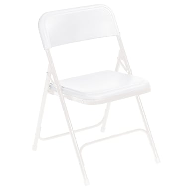National Public Seating 800 Series Steel Frame Plastic Folding Chair, White 52/Pack (821/52)