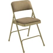 NPS® 2200 Series Fabric Armless Premium Folding Chair, Cafe Beige/Beige
