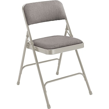 NPS 2202 Fabric Folding Chair, Gray