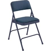 NPS® 2200 Series Fabric Armless Premium Folding Chair, Imperial Blue/Char-Blue
