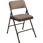 NPS® 2200 Series Fabric Armless Premium Folding Chair, Russet Walnut/Brown