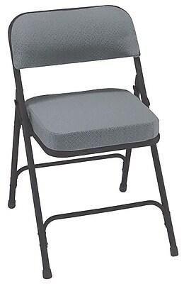 NPS 3212 Fabric Folding Chair, Black/Gray