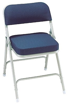 NPS® 3200 Series Fabric Armless Premium Folding Chair, Regal Blue/Gray