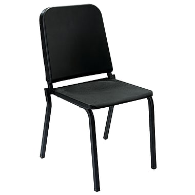 NPS® Polypropylene Melody Stack Chair, Black
