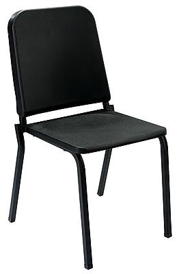NPS® Polypropylene Melody Stack Chair, Black