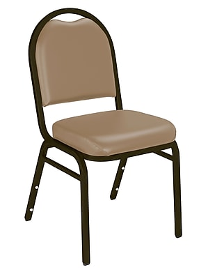 National Public Seating 9200 Series Steel Frame Vinyl Padded Dome Stack Chair, Beige 80/Pack (9201-M-NB/80)