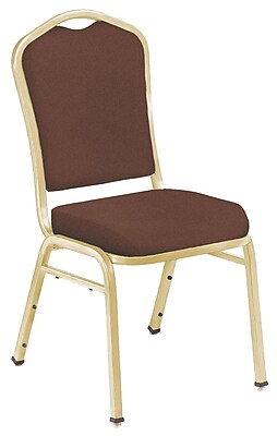 NPS® Silhouette Solid Fabric Stack Chair, Rich Maroon/Gold, 4/Pack