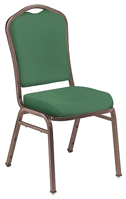 NPS® Silhouette Solid Fabric Stack Chair, Hunter Green/Coppervein, 4/Pack